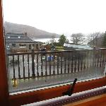 View from room overlooking the loch