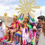 Childrens acting legandary Incas: Manco Capac and Pacha Camac
