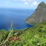 Piton view from top of estate