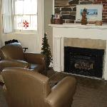 Fleming Room Seating Area And Gas Fireplace