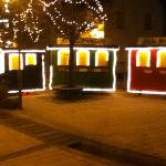 Mühlenplatz bei Nacht in der Weihnachtszeit
