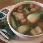 huge generous bowl of veg pho