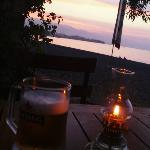 Sunset at the Sea Breeze with a Bintang