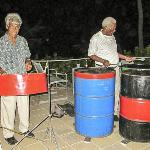 Morris Mark and Peter serenade us with steel drums