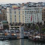 Sheraton Old San Juan. View from cruise ship at terminal.