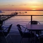 Sunset at The Landing Patio Bar & Grill - Clear Lake IA