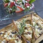 Spinach Salad and Flatbread Pizza