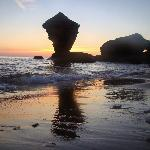 The famous teacup rock located a half mile down the beach from Twin Shores Camping Area