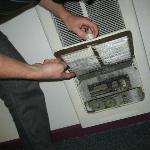 Dusty heater = fire hazard
