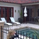 Heated pool area with screened in porch area at our suite