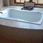 Tub in suite