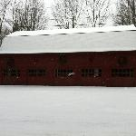 The red barn on our snow shoe hike.
