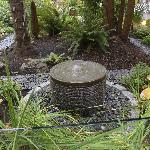 The Burrard's tropical oasis courtyard