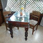Dinning table in the room