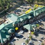 the hotel from the air