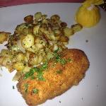 Cordon Bleu and Sauteed Potatoes