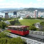 Narrow gauge train up to Botanic Gardens