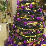 Arbol de Navidad en la entrada del Hotel