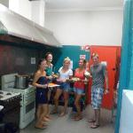 Our guests in the kitchen area cooking up a storm