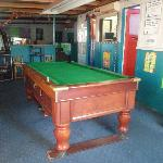 Fully functioning pool table where our competitions take place