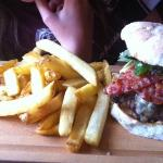 Burger at The Fatted Calf