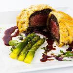 Restaurant Piramida menu: Beef Wellington with Argentina black Angus beef