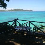 altro tavolo dove mangiare con vista sul parco marino