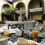 What a lovely place to have a delicious breakfast!