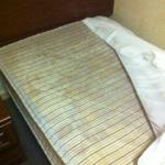 After sleeping one night I noticed the mattress was covered in mold