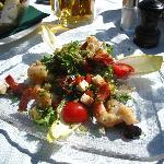Delicious shrimp salad
