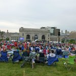 KC Symphony concert - Memorial Day from the lawn of the WWI memorial.