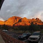 Sunset on The Watchman - from room patio