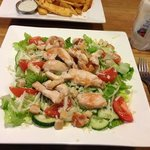 chicken Caesar salad - no dressing though!