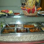 The excellent lunch buffet