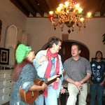 PAMELA SING TO ROSE & RICK DAVIS AT PATZCUARO