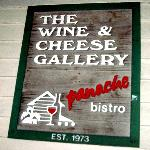 The Wine & Cheese Gallery sign
