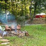 Fire Pit with Main Tent in Background