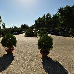 Entrance & parking area, Athos Palace, Sept 2012