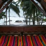 View from the loft in Coco Joes Bungalow