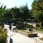 Entrance & parking area, Athos Palace, Sept 2012