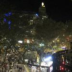 view of Las Ramblas at night