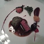 Galloway beef with bone marrow and parsley crust