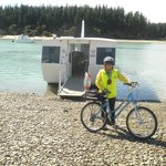 Bike, Boat and Rabbit Island in the distance