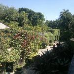 vista desde la habitación hacia los jardines
