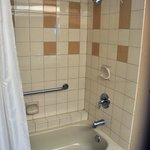 Tub & shower - could use some new grout, but basically clean