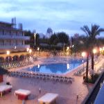 The hotel at dusk !
