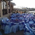 We cater events at our patio