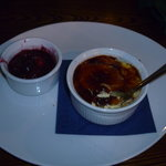 Perfect Creme Bruleewith Mulled Berries on the side