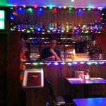 Siam's bar at Christmastime.