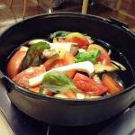 tomato, basil, and onion !